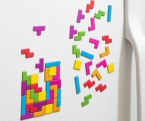 Tetris Refrigerator Magnets - http://coolthings.us