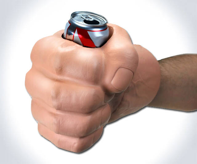 The Beast - Fist Can Koozie - http://coolthings.us