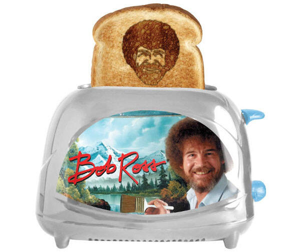 Bob Ross Toaster - http://coolthings.us