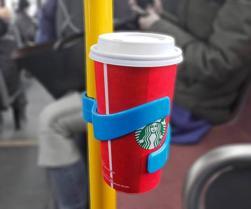The Public Transport Portable Cup Holder - http://coolthings.us