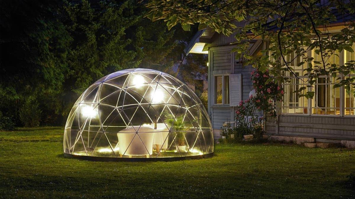 Geodesic Backyard Garden Dome - http://coolthings.us