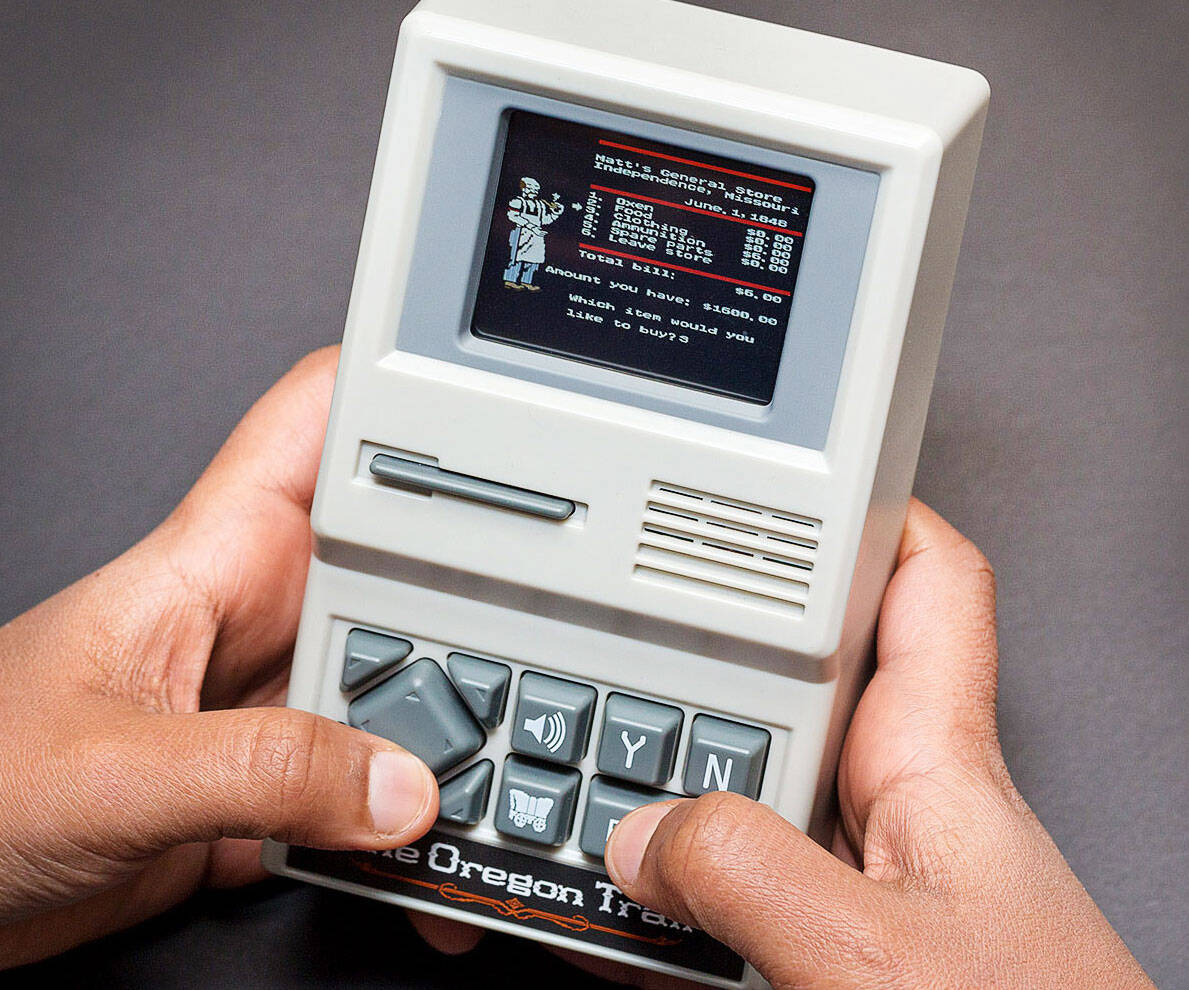 Handheld Oregon Trail Game - http://coolthings.us