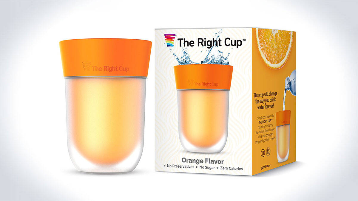 The Right Cup - Brain-Tricking Flavored Cup - http://coolthings.us