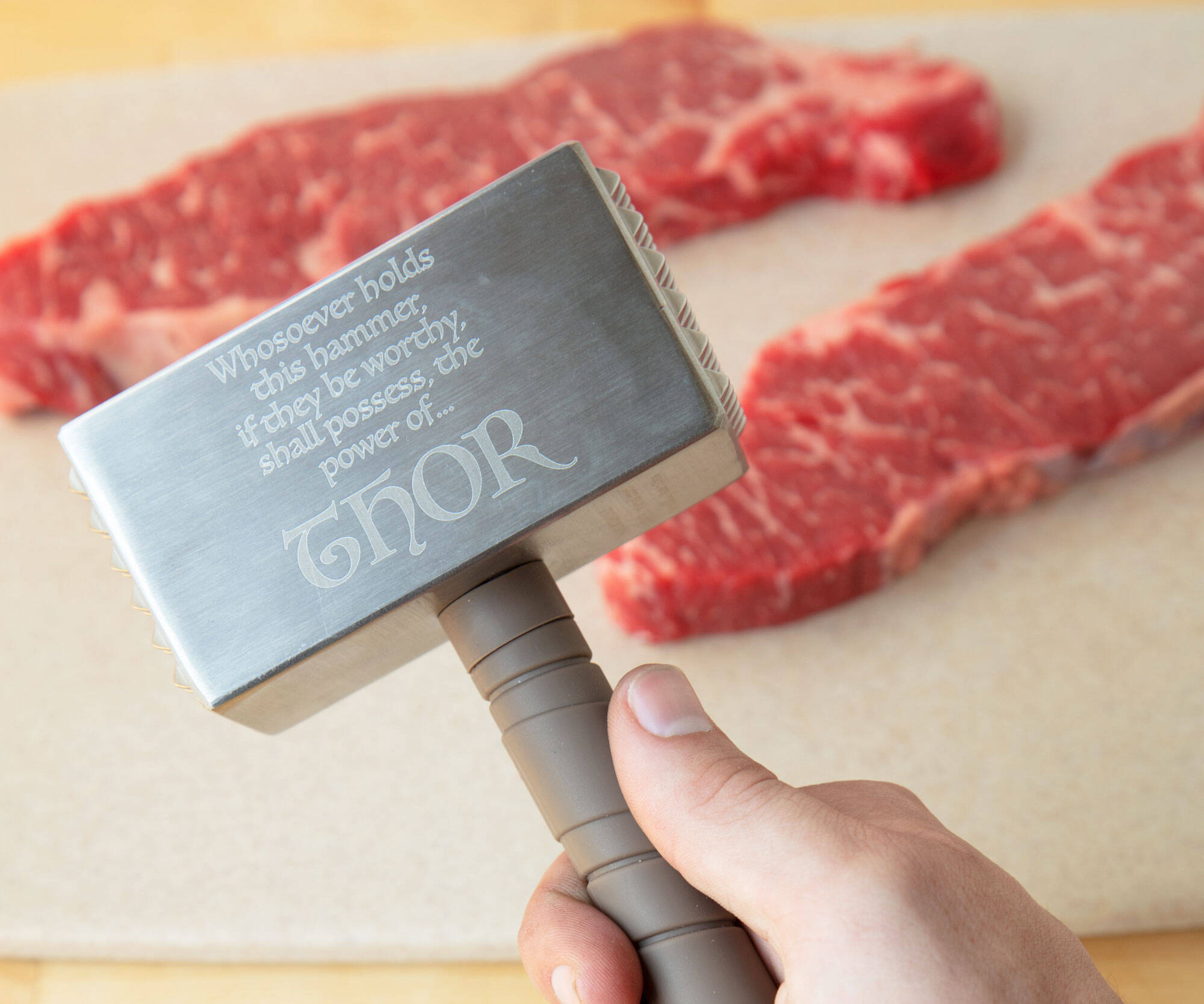 Thor's Hammer Meat Tenderizer - http://coolthings.us