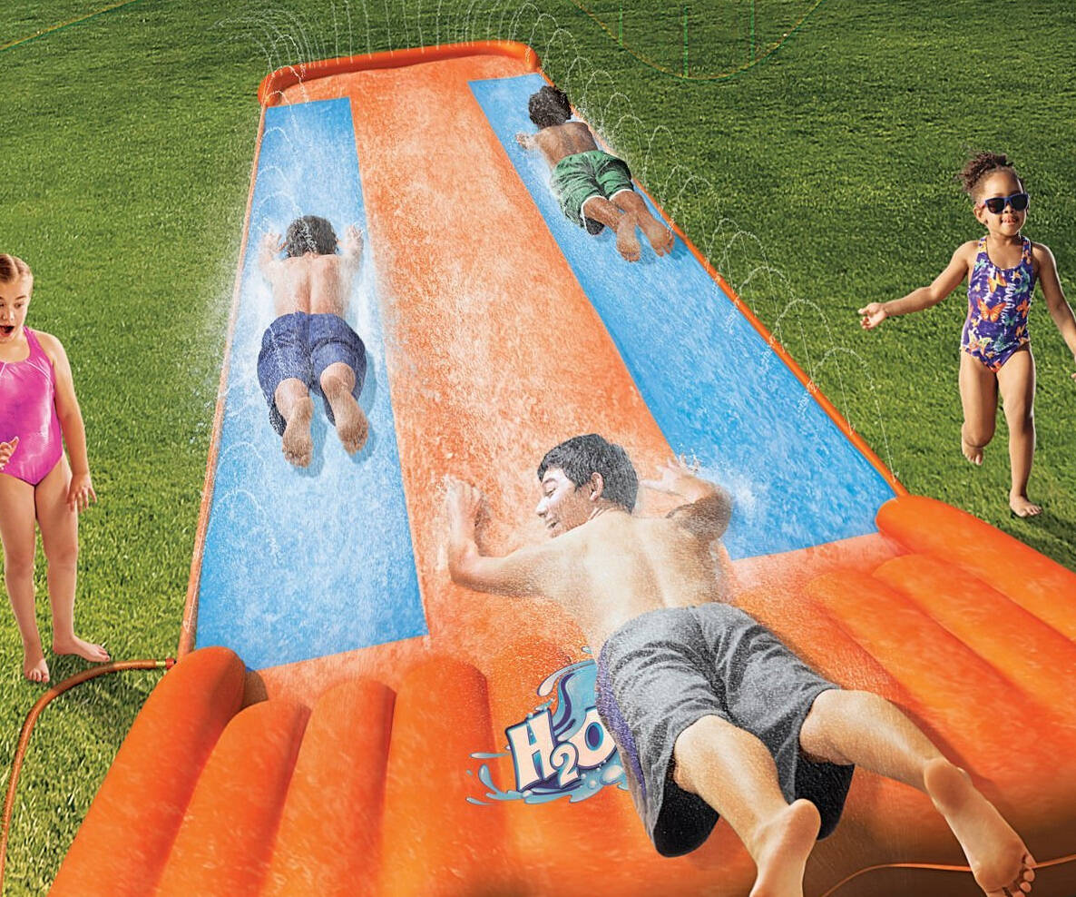Three Person Slip-N-Slide - http://coolthings.us