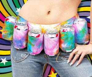 Tie Dye Beer Belt - http://coolthings.us