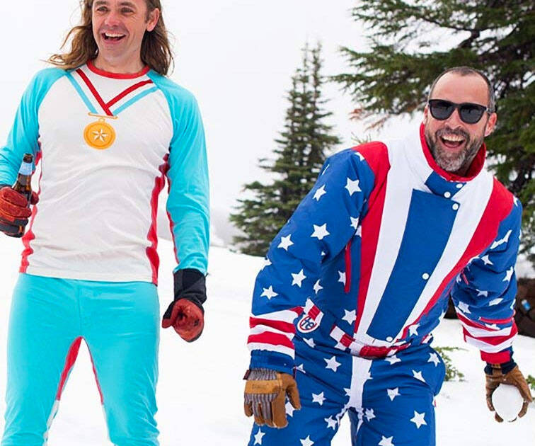 Retro Ski Suits - http://coolthings.us