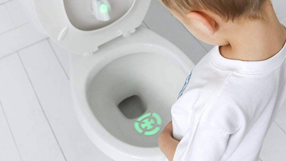 Motion Activated Potty Training Bullseye - http://coolthings.us