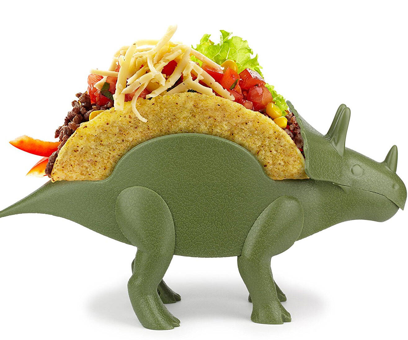Triceratops Taco Holder - http://coolthings.us