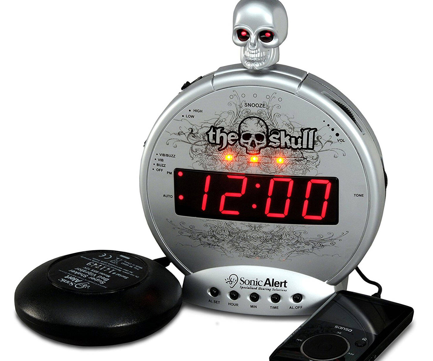 Ultra Loud Alarm Clock And Bed Shaker - http://coolthings.us