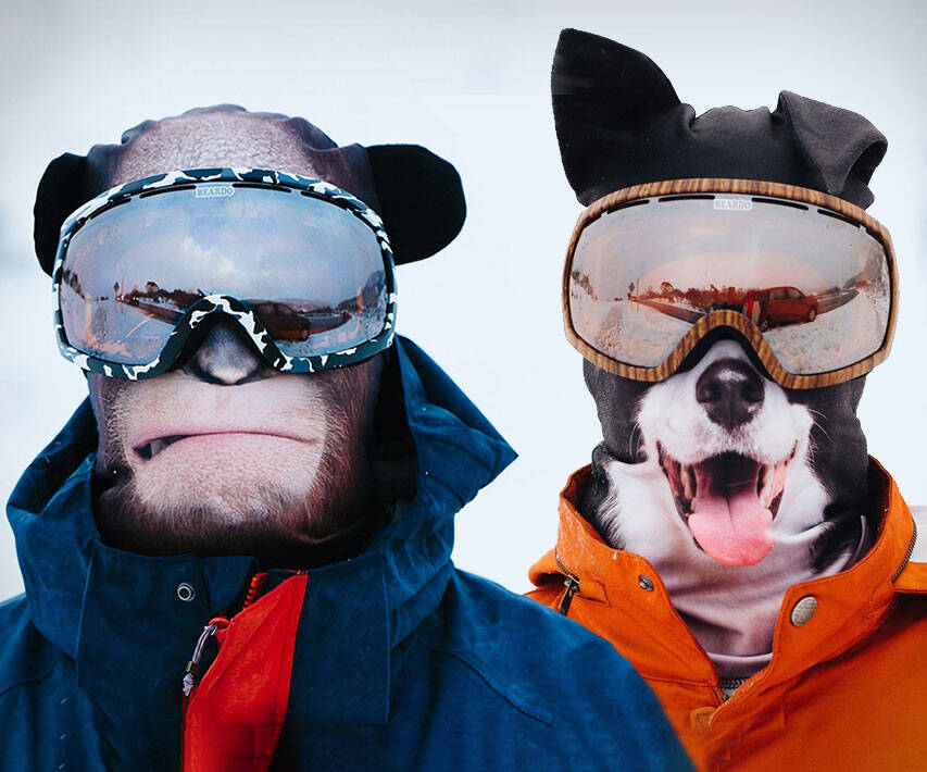 Ultra Realistic Animal Face Ski Masks - http://coolthings.us