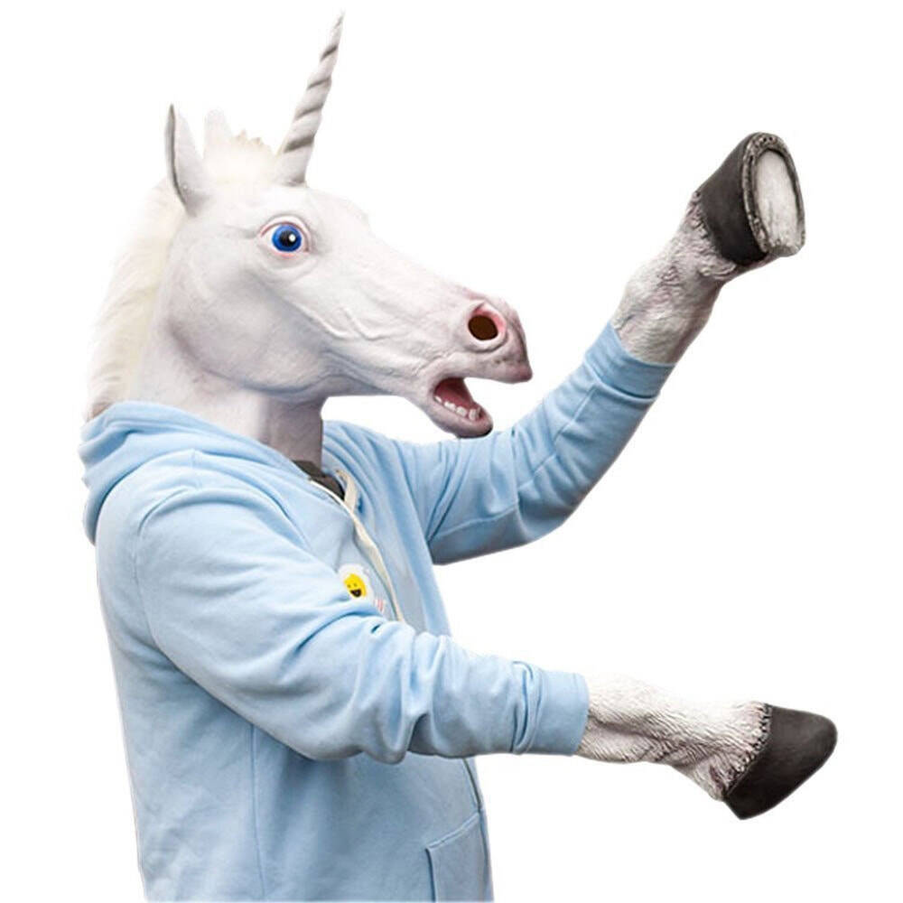 Unicorn Head Mask and Hooves Gloves - coolthings.us