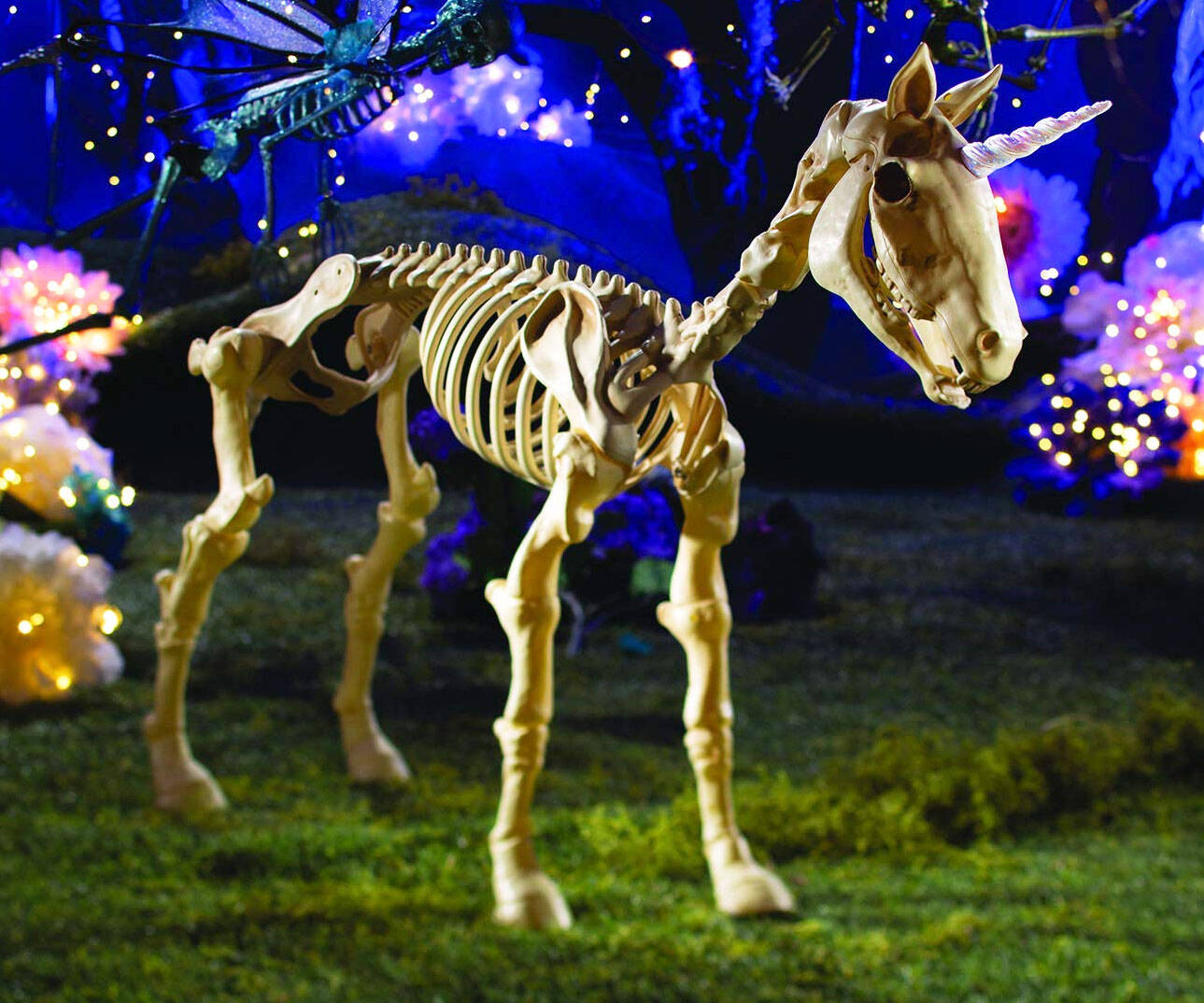 Unicorn Skeleton Lawn Decor