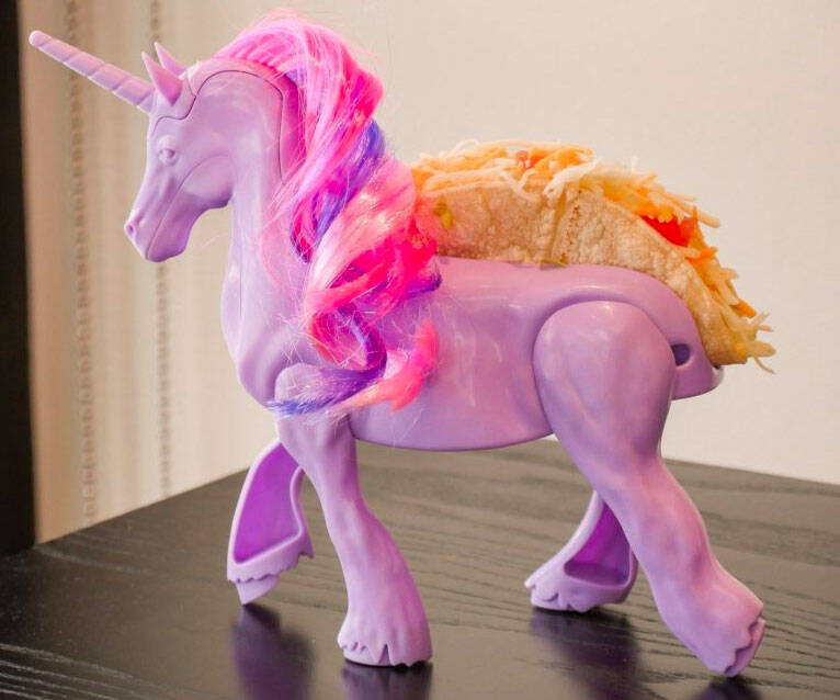 Unicorn Taco Holder - http://coolthings.us