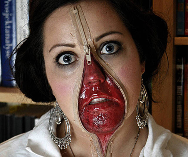 Zipper Face Costume - http://coolthings.us