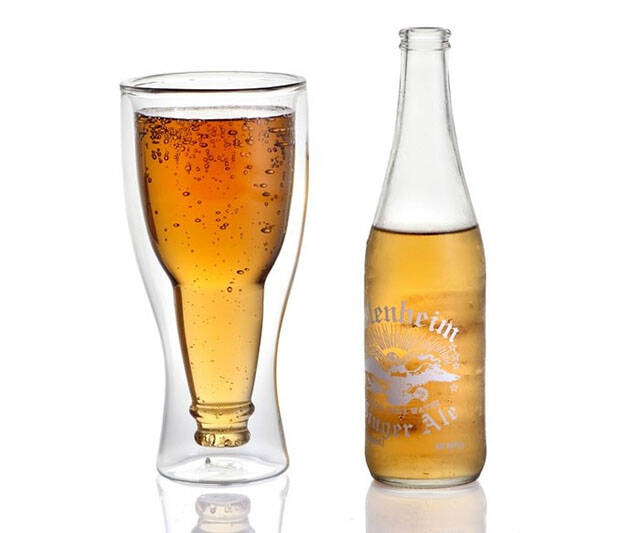 Upside Down Beer Bottle Glass - http://coolthings.us