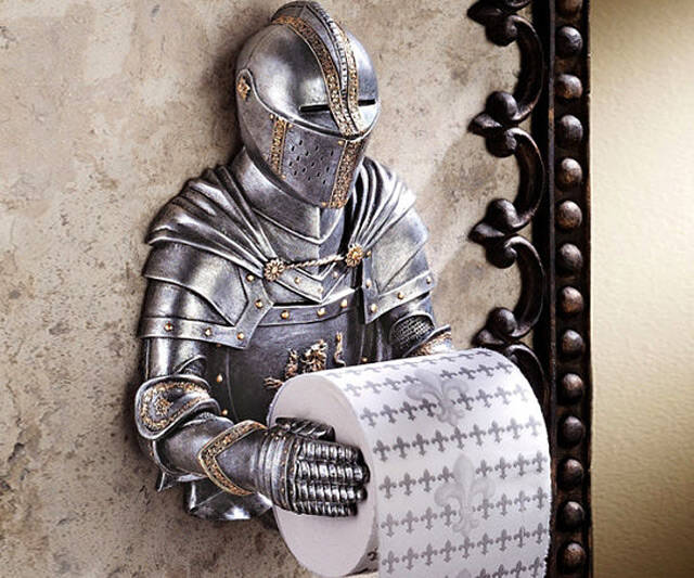 Valiant Knight Toilet Paper Holder - http://coolthings.us