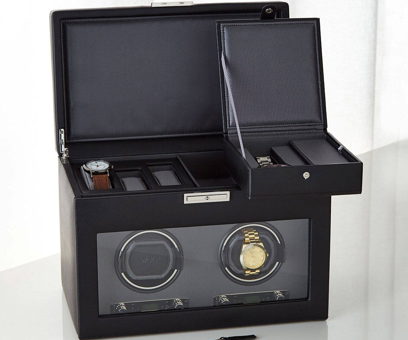 Viceroy Double Watch Winder & Storage - http://coolthings.us