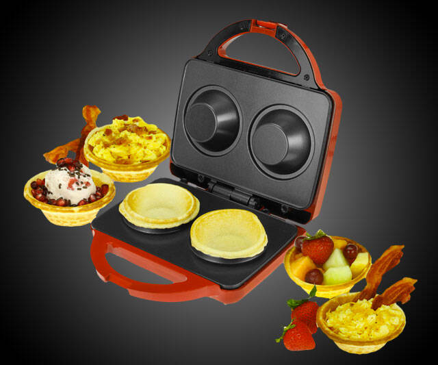 Waffle & Cookie Bowl Maker - http://coolthings.us