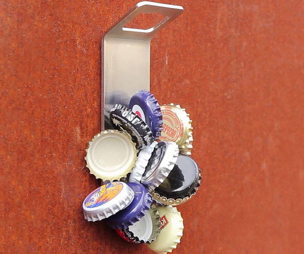 Wall Mounted Magnetic Bottle Opener - http://coolthings.us