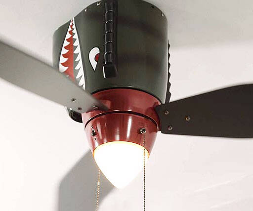 World War II Airplane Ceiling Fan - http://coolthings.us