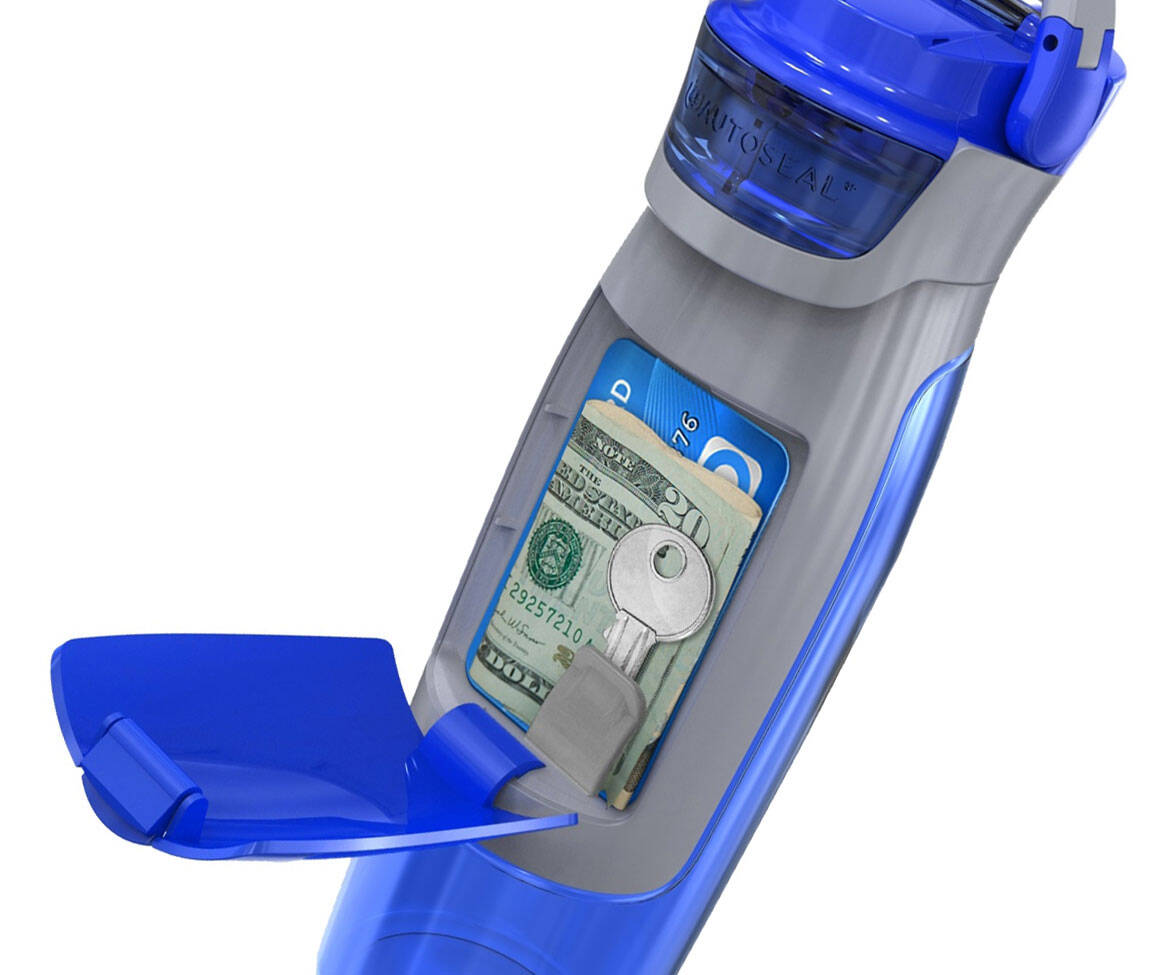Water Bottle With Compartment - http://coolthings.us