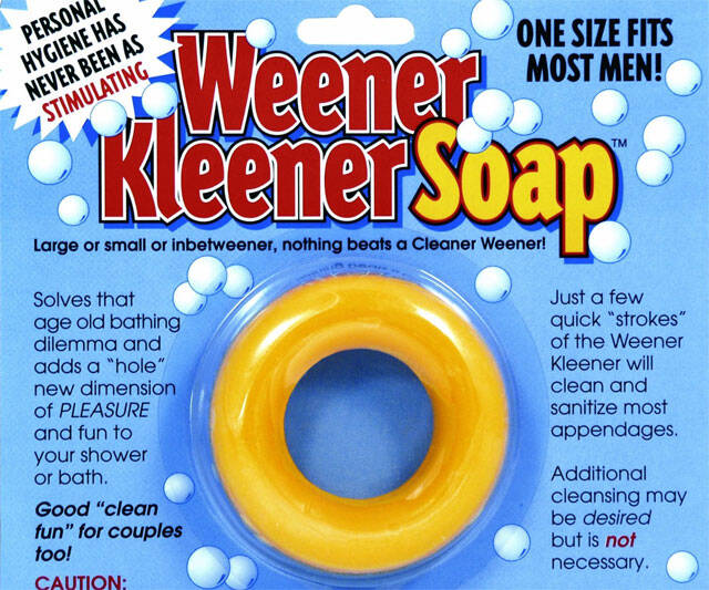 Weener Kleener Soap - http://coolthings.us
