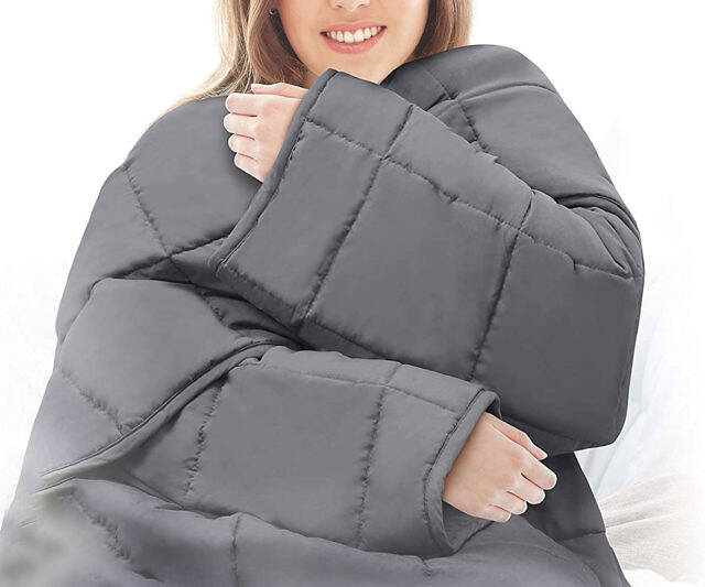 Weighted Blanket With Sleeves - coolthings.us