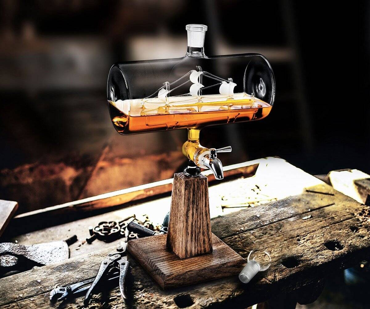 Ship in a Bottle Whiskey Decanter & Dispenser - http://coolthings.us