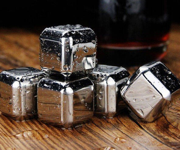 Stainless Steel Whiskey Stones - http://coolthings.us