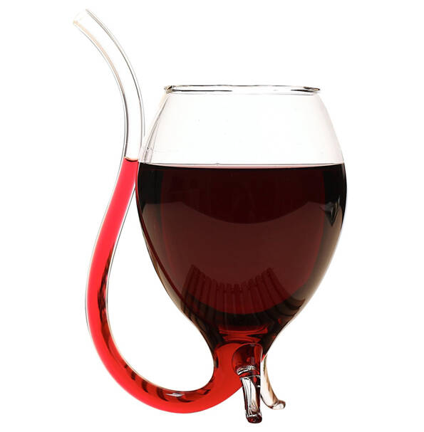 Wine Glass With Straw - http://coolthings.us