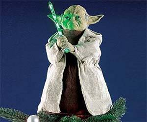 Yoda Christmas Tree Topper - http://coolthings.us