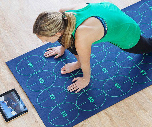 Yoga Learning Mat - http://coolthings.us