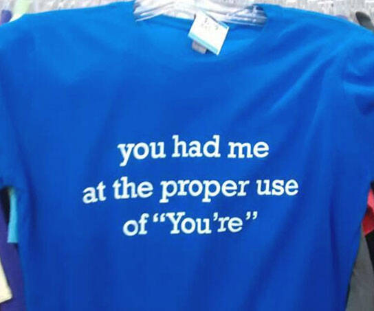 Grammar Lover Shirt - http://coolthings.us