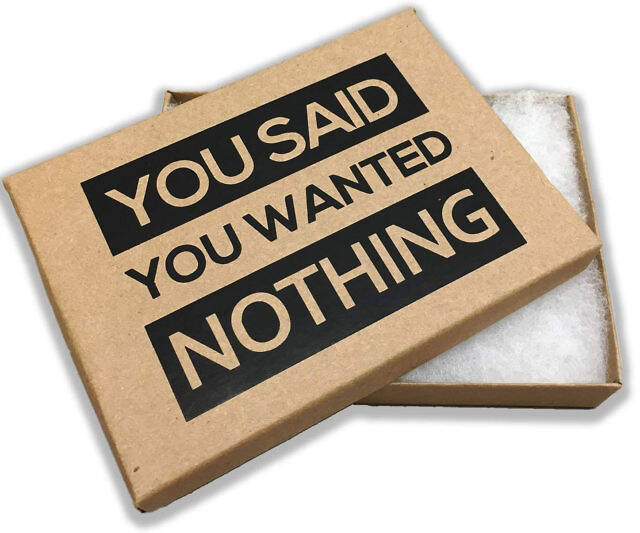The Gift Box Of Nothing - coolthings.us