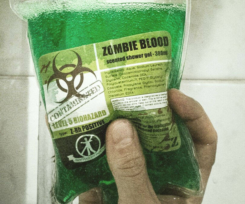 Zombie Blood Shower Gel - http://coolthings.us