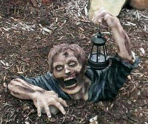 Solar Powered Garden Zombie - http://coolthings.us